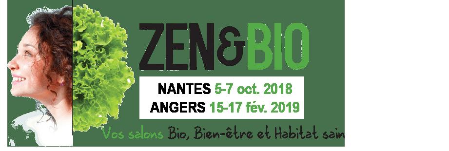 Logo salons ZEN&BIO 2018 - 2 rendez-vous : Angers et Nantes